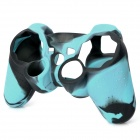 Protective Silicone Cover Case for PS3 / PS2 Controller - Black + Light Blue