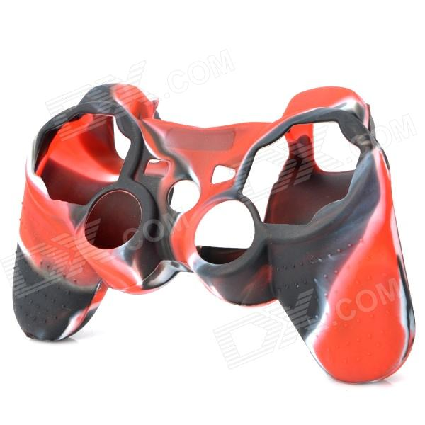 Protective Silicone Cover Case for PS3 / PS2 Controller - Black + Red