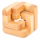 Educational 3D Interlock Wood Toy - Wood Color
