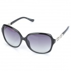 UV400 UV Protection Resin Lens Sunglasses with Carrying Case - Black