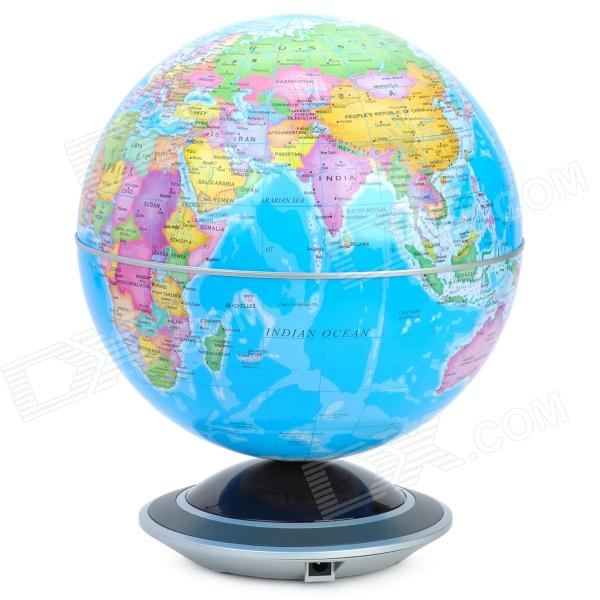 18cm English Administrative Map Rotating Globe w/ Light - Blue (2 x AA)