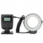 "HL-48 1.6"" LCD 48-LED Macro Ring Flash for Nikon / Canon / Panasonic + More - Black (4 x AA)"