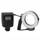 "Travor RF550E 1.6"" LCD White 48-LED 7-Mode Macro LED Ring Flash Light for Sony DSLR Camera (4 x AA)"