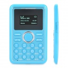 "Super Slim GSM Card Phone w/ 1.0"" Screen, Dual-Band, Single-SIM and FM - Blue"