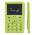 "Super Slim GSM Card Phone w/ 1.0"" Screen, Dual-Band, Single-SIM and FM - Green"