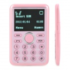 "Super Slim GSM Card Phone w/ 1.0"" Screen, Dual-Band, Single-SIM and FM - Pink"