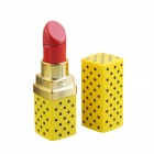 Creative Lipstick Style Butane Gas Lighter - Yellow