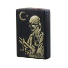 Creative Soldier Pattern Windproof Slide Switch Butane Jet Torch Lighter - Black