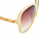 Fashion PC Resin Lens UV400 Protection Sunglasses - Off White