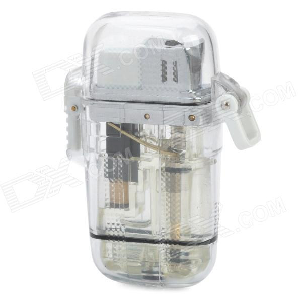 Water Resistant Windproof Butane Jet Lighter - Transparent