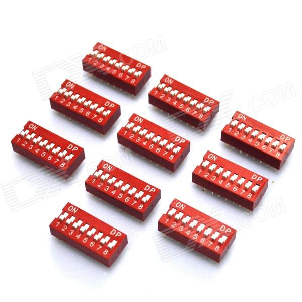 DIY 8-Position 16-Pin 2.54mm Pitch Dip Switches (10-Piece Pack) diy 4 position 2 54mm pitch dip switches 10 piece pack