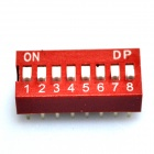DIY 8-Position 16-Pin 2.54mm Dip Switches pitch (10-Piece Pack)