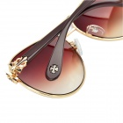 Fashion Sports PC Resin Lens UV Protection Sunglasses - Coffee + Golden
