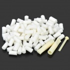 Sanda Sponge Cigarette Filters Set - White (100-Piece Pack)