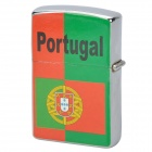 Stylish Portugal National Flag Image Pattern Oil Lighter - Green + Red