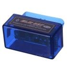 mini-ELM327 Bluetooth OBD2 carro V2.1 ferramenta de interface de diagnóstico - azul