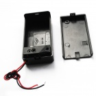 9V Battery Holder Case Box with Leads & On/Off Switch - Black