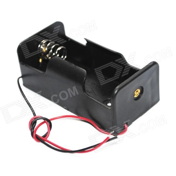 D-Type Battery Holder Case Box with Leads 4 x d size battery power source holder case box with leads and cap black