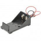 9V Battery Holder Case Box with Leads - Black