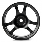 52.6mm Aluminum Alloy 6-Spoke Wheel Hub for 1:10 R/C On-road Flat Run Car - Black (2-Pack)