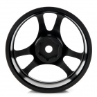 Aleación de aluminio 52.6mm 6 Spoke Wheel Hub de 1:10 R / C On-road coche Run Flat - Negro (2-Pack)