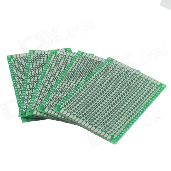 Double-Sided Glass Fiber Prototyping PCB Universal Board (5-Pack) double sided glass fiber prototyping pcb universal board 10 x 16