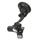 Universal Use Car Swivel Suction Cup Mount Stand Clip - Black