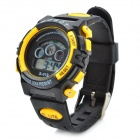 Sports Water Resistant Quartz Digital Wrist Watch - Black + Yellow