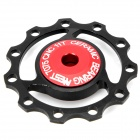 AEST Aluminum Bike 7075 11T Rear Derailleur Pulley - Black + Red