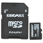 KingMax SDHC MicroSD/TF Memory Card w/ SD Card Adapter(8GB / Class 4)