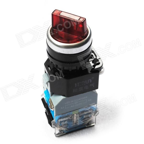 DIY On/Off Rotation Engineering Switch - Black + Red diy rocker switch for car vehicle black red 11cm