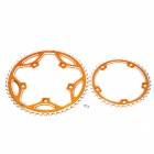 AEST AL7075-T6 53T/39T Chain Wheel Chain Ring Set for Road Bike - Golden + Silver (2-Piece Pack)