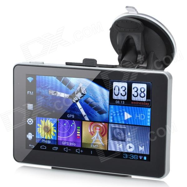 "5"" Resistive Screen Android 4.0 GPS Navigator w/ Wi-Fi / Europe Map / TF Slot / 8GB Built-in Memory"
