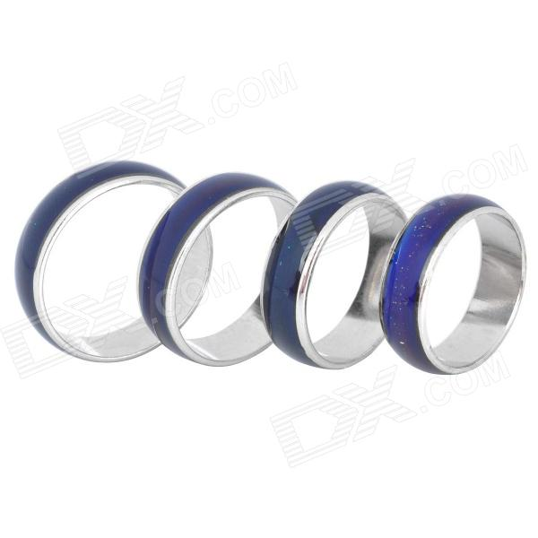 Magical Temperature Control Color Changing Mood Rings (4-Piece Pack)