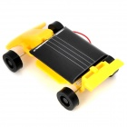 Mini Assembly Solar Powered Racing Car Toy - Yellow