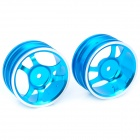 1/10 R/C Car On Road 6-Spoke Aluminum Alloy Wheel - Blue (52.6 x 26.5mm / 2-Piece Pack)