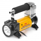 Portable Air Compressor with 5-LED Light / Car Charger - Yellow + Black (12V)