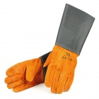 Cow Leather Professional Welding Glove - Brown + Black (1-Pair)