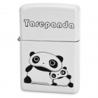 Cute Tarepanda Image Pattern Kerosene Oil Lighter - White + Black