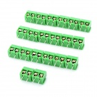 2-Pin Cable Wire Terminal Connectors - Green (20-Piece Pack / 5.0mm)