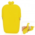 Stylish Silicone + Metal Wallet for Lady - Yellow