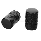 Aluminium Alloy Car Tire Valve Caps - Black (4-Piece Pack)