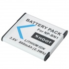 Shoot NP-BN1 Replacement 3.6V 800mAh Li-ion Battery for Sony T110 + More - White