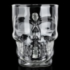 Crystal Skull Style Glass Beer Cup - Transparent (500ml)