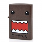Domo-kun Pattern Kerosene Oil Lighter - Dark Brown