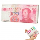 Unique 100 RMB Pattern Snap-fastener Wallet Purse with Card Slots - Pink + White