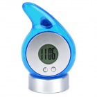 "Eco-Friendly Water Powered 0.9"" LCD Clock - Blue"