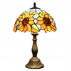Tiffany-Stil Weiß Zink Grape-Lampe (110-120V)