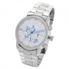 IK Men's Fashion Mechanical Wrist Watch - Silver + White
