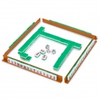 Travel Portable Acrylic Mahjong Tiles Set - Green + White